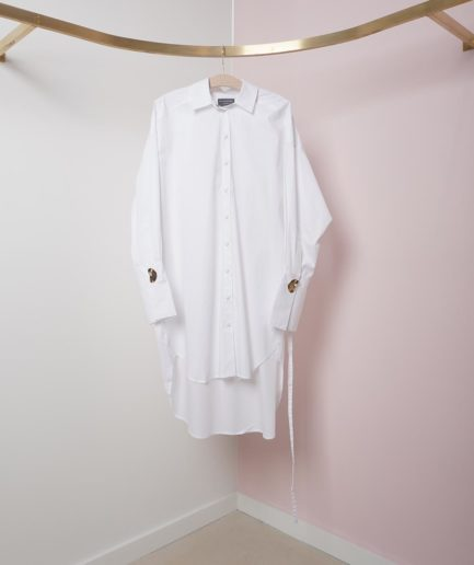 chemise parker en coton bio blanche mother of pearl