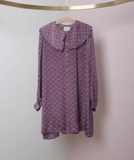 robe courte grand col manches longues sissel edelbo