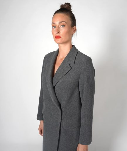 manteau long gris en laine house of dagmar