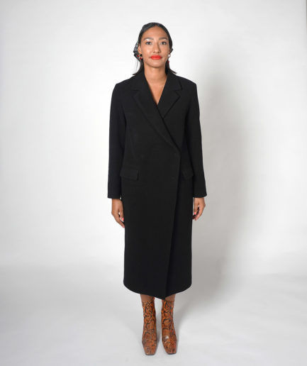 manteau long noir en laine house of dagmar