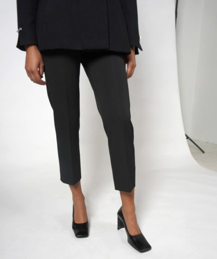 pantalon 7/8 tailleur noir house of dagmar