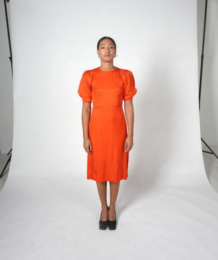 robe longue on atlas rouge orangé