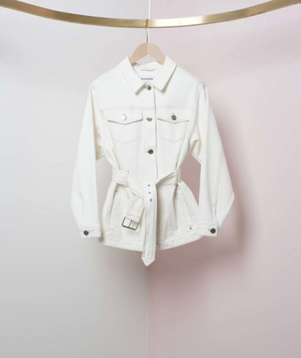 veste en jean blanc coton bio tomorrow denim