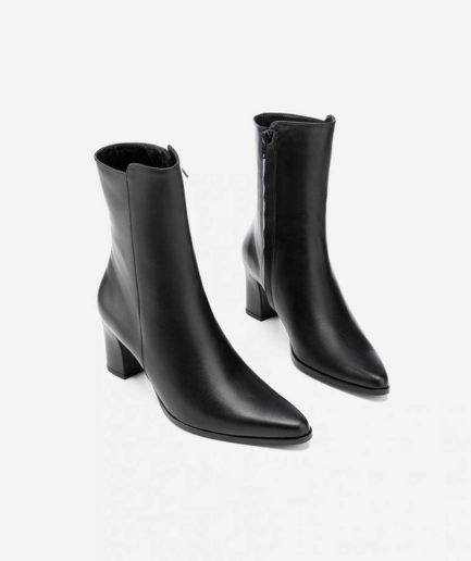 bottines en cuir noir Teddy Flattered
