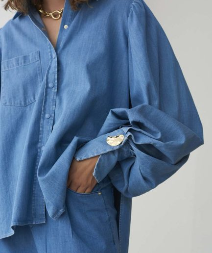 chemise darcy denim mother of pearl