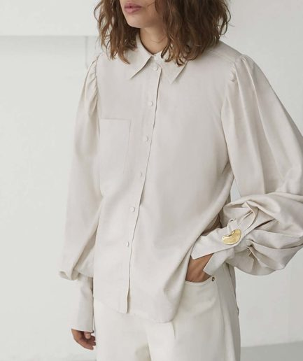 chemise darcy sable mother of pearl