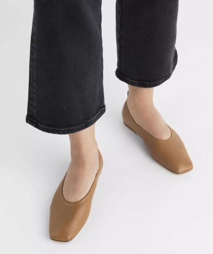 "ballerines en cuir ""nadine"" flattered marron"